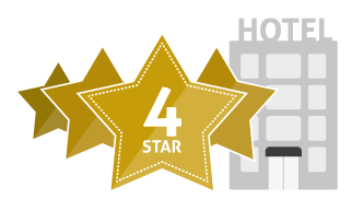 How do hotel star ratings work for 4 star hotel